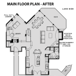 Main Floor Plan - Before and After