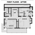 First Floor Plans - Before and After