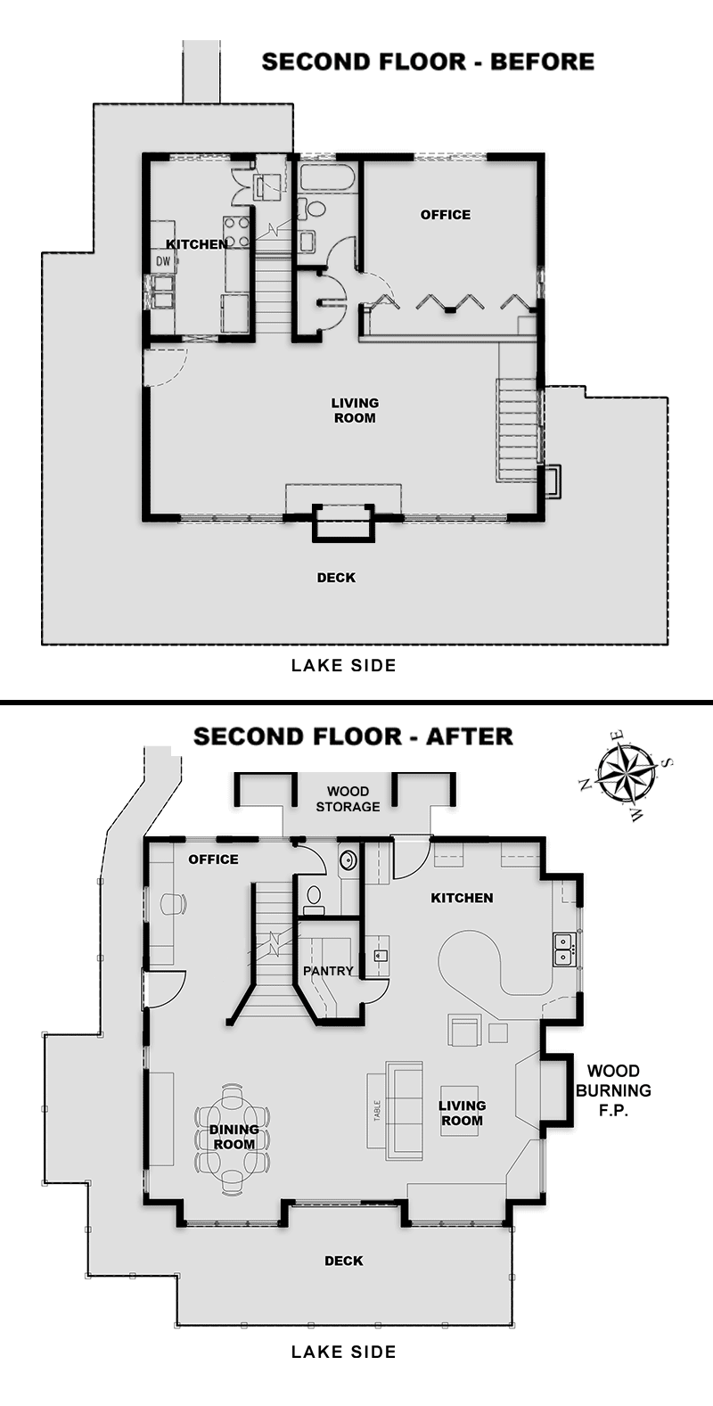 Engineering architecture and design of remodels and additions for Second floor addition floor plans