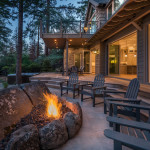 Rear deck and firepit