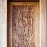Little details bring the imagery to life, such as this hand carved door