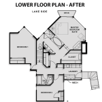 Lower Floor Plan - Before and After